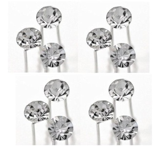 (Pack of 12 Pcs) Crystal Rhinestones Hair Pins, Beautiful Hair Accessories for Every Occasion, Arrives in Gift Box by Strap N Guard Accessories