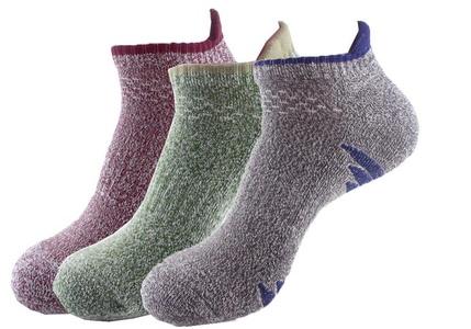 E-SideStep Men Quick Lyte Cushion Single Tab Socks-3 Pair Pack