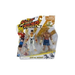 Street Fighter Classic 4 inch Ryu vs. Sagat 2 pack Action Figure by Street Fighter