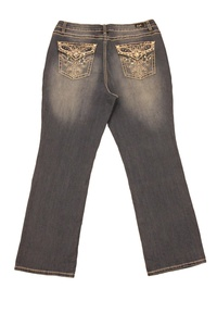 Earl Jean Women Plus Boot Cut and Embroidered Back Pocket Epp130 (18W)