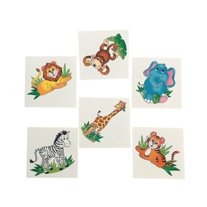 36 Zoo Animal Temporary Tattoos by FE