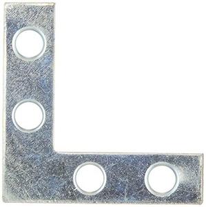 Stanley Hardware 1-1/2-Inch Flat Corner Brace, Zinc Plated, #756618 by Stanley Hardware