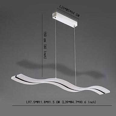 40W Pendant Light ,  Modern/Contemporary Chrome Feature for LED AcrylicLiving Room / Bedroom / Dining Room / Study Room/Office / Kids