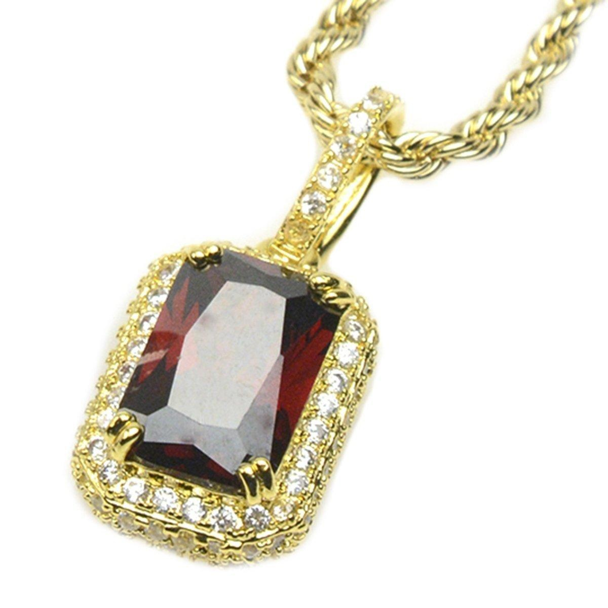 Online store mens hip hop luxury iced out 14kt gold plated micro mens hip hop luxury iced out 14kt gold plated micro red ruby pendant 24 mozeypictures Choice Image