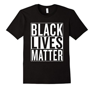 Men's Black Lives Matter Race Unity Say No Racism T-shirt Medium Black