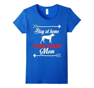 Women's Stay At Home Cane Corso Mom T-Shirt Small Royal Blue