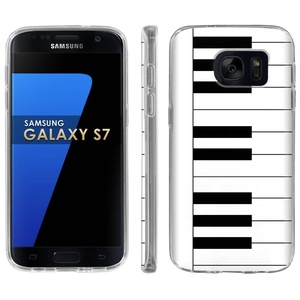 Samsung Galaxy [S7] Phone Case [ArmorXtreme] [Clear] Designer Image [Flexi Gel TPU] - [Piano Key ] for Samsung Galaxy S7 / GS7