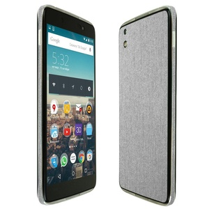 Skinomi TechSkin - BlackBerry DTEK50 Screen Protector + Brushed Aluminum Full Body Skin / Front & Back Wrap Clear Film / Ultra HD and Anti-Bubble Shield