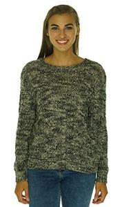 Denim & Supply Ralph Lauren Cable Knit Crewneck Sweater Black/Cream Large