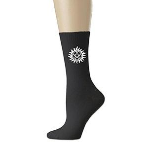 unisex SupernaturalAnti-Possession Symbol All-Season Cotton Crew Socks White (3 colors)