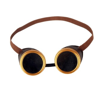 Focussexy Cyber Goggles Steampunk Welding Goth Cosplay Vintage Goggles Rustic