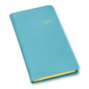 2017 GALLERY LEATHER Sky Blue Cartier Leather Monthly Pocket Planner MADE IN USA