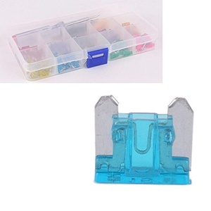 PolarLander Mini Plastic Zinc Fuse Box Set of 100 Insert Blade Fuse 10 Specifications with Pencil and Clip