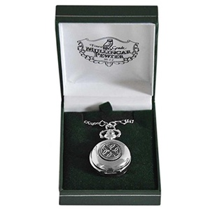 Mullingar Pewter Ladies Pocket Watch With Trinity Design