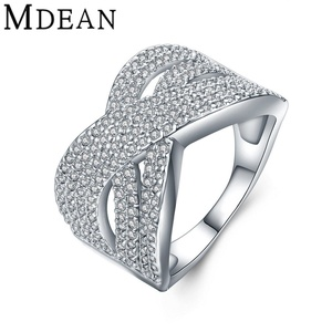 delatcha Jewelry White Gold Plated Ring CZ jewelry vintage Ring women Bague luxury women engagement wedding Ring MSR859
