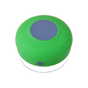 HTC Desire 520 Green Waterproof Portable Bluetooth Speaker with Suction Cup for Music Playing and Speaker Phone for Shower, Pool, Boating and Outdoors