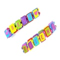2 Girls Best Friends Bright Wood Bead Bracelets IN2178 by Bracelets