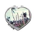 RadeLLa Makeup Vanity With Mirror Cosmetic Mirror Beach Ocean Vintage Compact Mirror