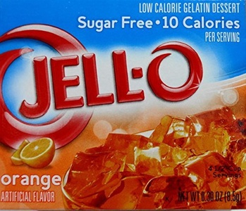 Jell-O Orange Flavor Sugar-Free Gelatin Mix, 0.30 Ounce (8.5G), (Pack of 5) by Jell-O
