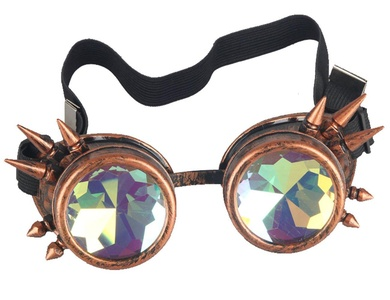 02d14fb7dd34 Retro NEW CYBER Vintage STEAMPUNK GOGGLES Glasses Bling Lens Rustic Goth  FOR COSPLAY PARTY