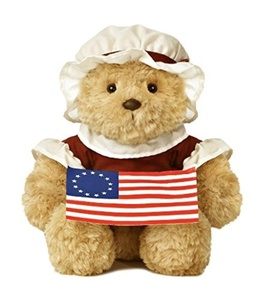 Aurora World Colonial Bear Plush, Betsy Ross, 10 by Aurora World