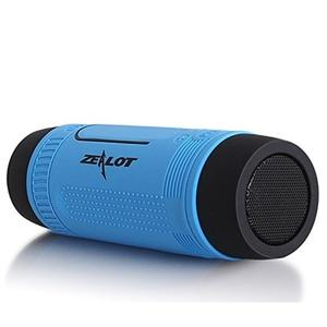 RobotsDeal Waterproof Wireless Bluetooth Speaker USB Charging LED Flashlight(blue)