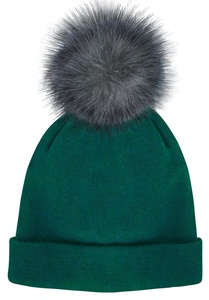 Posh Plush Knit Hat with Pom