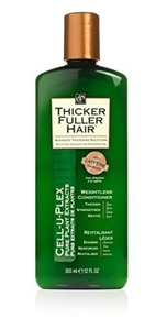 THICKER FULLER HAIR Advanced Thickening Solutions Cell-U-Plex Pure Plant Extracts Weightless Conditioner w/Caffeine Energizer 12 oz/ 355 ml by Thicker Fuller Hair