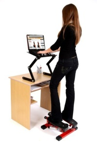 Office Fitness Twist Stepper with Bungee Cords Black/Red Mini Twist Stepper Fitness Workout Machine by Office Fitness