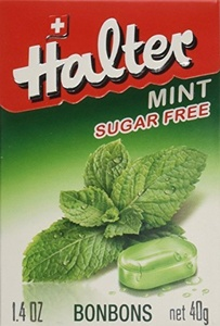 Halter Sugar Free Candy, Mint, 1.4-Ounce Boxes (Pack of 16) by Halter