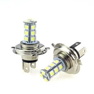 100lighting 2pcs White H4 Led Bulbs Replacement For Fog Driving Lights DRL Daytime Running Light Lamps Super Bright 18 SMD 5050 Led