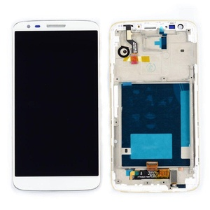 New Black LG G2 D800 D801 Lcd Display +Touch Digitizer Assembly With Frame Part