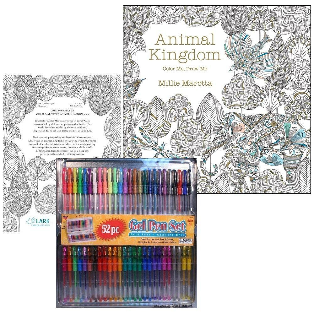 Animal Kingdom Color Me Draw A Millie Marotta Adult Coloring Book With