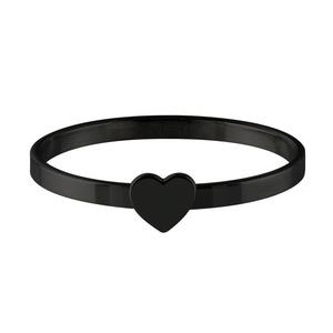 Quiges - Stacking Ring Slide-On Ring Black 17mm