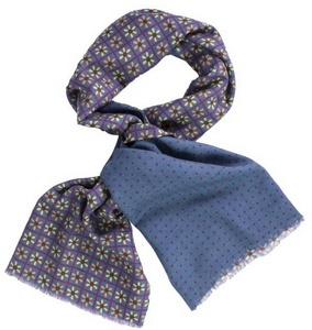 Petrol Blue Propeller Scarf by 40 Colori