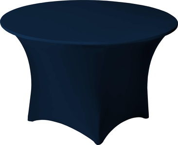 Snap Drape CC30RNVY Contour Table Cover, Snug Fit, Reinforced Rubber Cup Attached To Leg, Flame Retardant, Machine Washable/Dryable, Fits 30