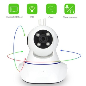 WiFi Camera Dome Wireless Security IP Camera Dual Antenna 1MP 720P PTZ Two-Way Audio Night Vision Motion Detection