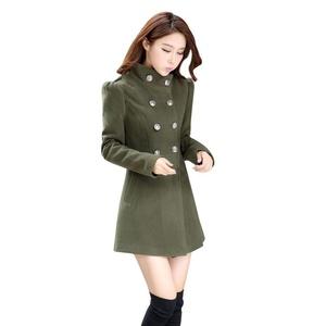 Women Winter Windbreaker Coat Long Sleeve Trench Jacket Outwear Casual Overcoat