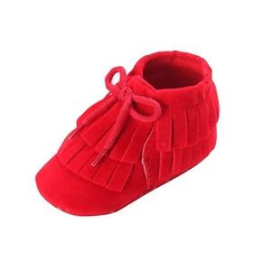 Efaster Toddler Infant Newborn Baby Girls Boys Tassel Soft Sole Prewalker Shoes