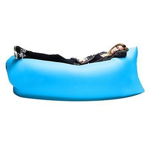 Air Sleep Sofa Inflatable Portable Outdoor Couch Sleeping Hangout Lounger External Internal PVC Camping Beach