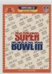 Super Bowl III - New York Jets, Baltimore Colts (Football Card) 1989 Pro Set - Super Bowl Logos #III