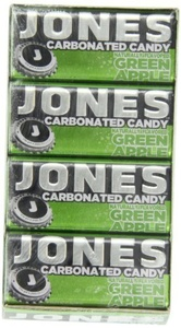Jones Soda Candy Green Apple Carbonated Candy, 0.89-Ounce Tins (Pack of 16) by Jones Soda Candy