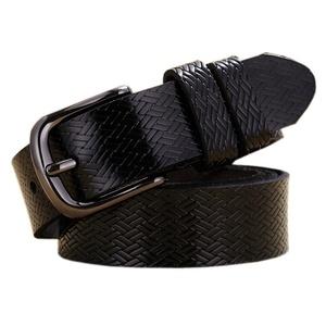 Boshiho Jeans Belt for Women Cowhide Leather Belt Pin Buckle Apparel Belt (Black)