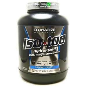 Bundle - 2 Items : 1 Iso 100 Vanilla by Dymatize - 3 Pounds and 1 VDC Shaker Cup