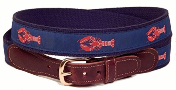 Preston Leather Lobster Belt Blue