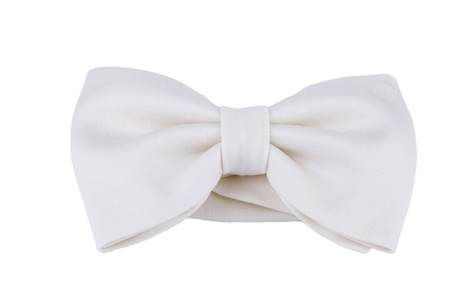 Handmade Classic White Fine Wool Pre-Tied Bow Tie from Penelope`s Bow Ties