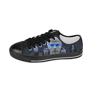 H-MOE Art My Chemical Romance Men's Canvas Shoes Low-top Lace-up Breathable Sneakers,Black