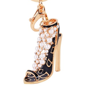ARICO High Heels Pendant Necklace Crystal Necklace Pearl Necklace Enamel Jewelry Keychain NE812
