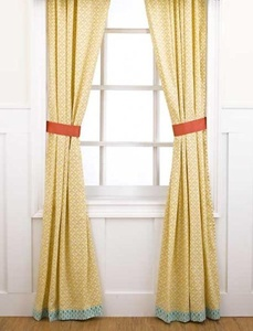 Surie Drapes - 2 Panels with Tiebacks - 84 in x 42 in by Cocalo Couture