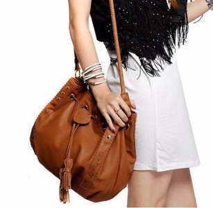 Gillberry Lady Handbag Shoulder Bag Tote Purse Leather Women Messenger Hobo Bags (Brown)